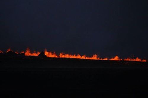 Eruption in Holuhraun north of Vatnajokull